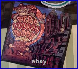 Big Bad Voodoo Daddy Rare Framed Gold Record Award In Bamboo Frame