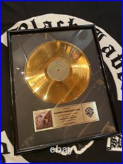 Black Sabbath Gold Record Award