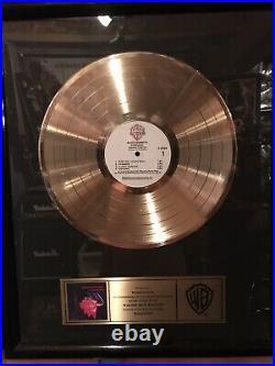 Black Sabbath Paranoid Gold Record Award