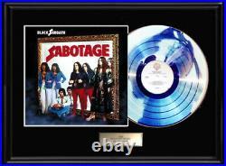 Black Sabbath Sabotage Lp White Gold Silver Platinum Tone Record Non Riaa Award