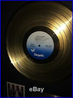 Blondie Gold Record Award Parellel Lines LP Original 1980, 17x22 Exc. Cond