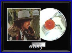 Bob Dylan Desire Lp White Gold Silver Platinum Tone Record Rare Non Riaa Award