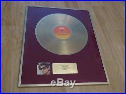 Bob Dylan Infidels Switzerland Gold Record Award Rare