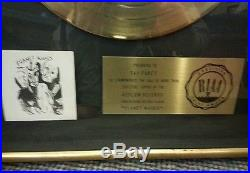 Bob Dylan Planet Waves Official Riaa Gold Record Award Floater Black Matte