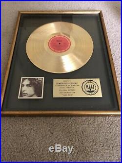 Bob Dylan Riaa Gold Record Award For Hard Rain