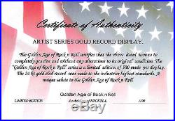 Bob Marley Legend 24k Gold LP Record Award Display Free USA Shipping