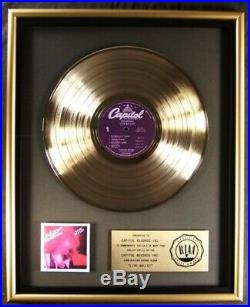 Bob Seger & The Silver Bullet Band Live Bullet LP Gold RIAA Record Award Capitol