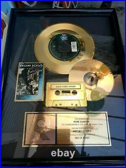 Bon Jovi RIAA Gold Award Presented Richie Sambora Mercury Record Only one