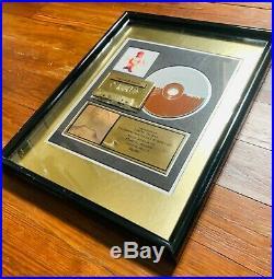 Brandy Self-Titled RIAA Gold Record Album Award Official Plaque Damon Thomas