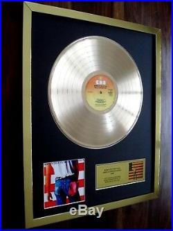 Bruce Springsteen Born In The USA Lp 24ct Gold Plated Disc Record Award Album