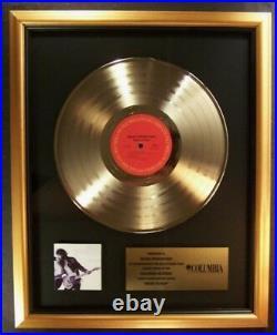 Bruce Springsteen Born To Run LP Gold Non RIAA Record Award Columbia Records