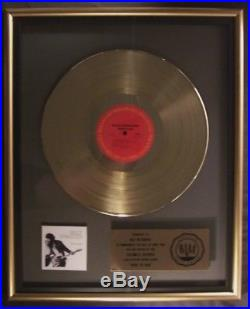 Bruce Springsteen Born To Run LP Gold RIAA Record Award Columbia Records To Max