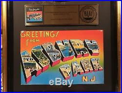 Bruce Springsteen Greetings from Asbury Park RIAA Gold Record Award