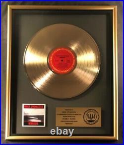 Bruce Springsteen Nebraska LP Gold RIAA Record Award Columbia Records