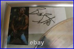 Bruce Springsteen Platinum Record Born To Run -WWA Europe Awards + Autogramm