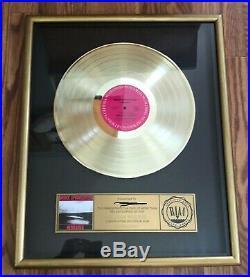 Bruce Springsteen RIAA Gold Record Award Nebraska wood frame / strip plate