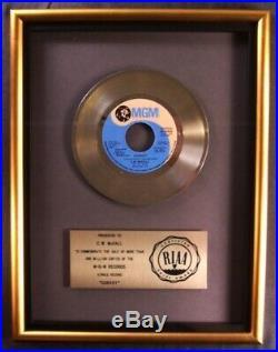 C. W. McCall Convoy 45 Gold RIAA Record Award MGM Records