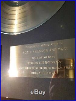 CHARLIE DANIELS BAND Fire On The Mountain 1974 Gold Record Award Non RIAA Buddah