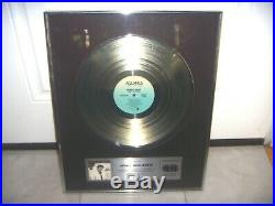 COREY HART FIRST OFFENSE 1984 CANADIAN ASSOCIATION GOLD RECORD Award