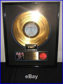 Cameo RIAA Gold Record Award Album Machismo Presented to Larry Blackmon