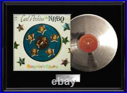 Carl Perkins Nrbq Rare White Gold Silver Metalized Vinyl Record Non Riaa Award