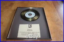Carly Simon USA Elektra Records Inhouse 7 Gold Award / Youre so Vain RIAA