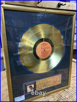 Charley Pride RIAA Gold Record 500,000 sales award for Best of Charley Pride