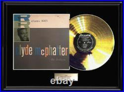 Clyde Mcphatter Drifters Rare Gold Metalized Record Lp Album Non Riaa Award