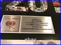 Columbia Records 2013 Non-RIAA Gold Platinum Record Award Beyoncé Pharrell