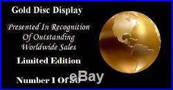 Cradle Of Filth Midian CD Gold Disc Record Vinyl Lp Award Display Free P&p