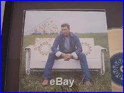 Craig Morgan RIAA Gold Compact Disc Broken Bow Records Presentation Award
