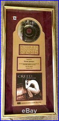 Creed Gold Record Award My Own Prison Canadian Rare
