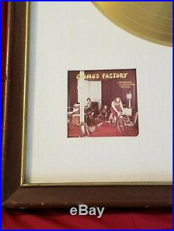 Creedence Clearwater Revival COSMO'S FACTORY RIAA White Matte Gold Record Award