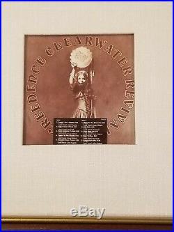 Creedence Clearwater Revival MARDI GRAS RIAA White Matte Gold Record Award RARE