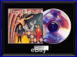 Crowded House Debut White Gold Silver Platinum Tone Record 1st Lp Non Riaa Award