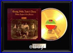 Csny Neil Young Deja Vu Album Framed Lp Gold Metalized Record Non Riaa Award