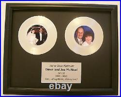 Custom Platinum or Gold Wedding 20th Anniversary Gift 45 Record Award Style