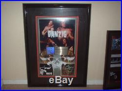 DANZIG RIAA GOLD RECORD AWARD MISFITS SAMHAIN HUGE CUSTOM AWARD! 22.5 x 31