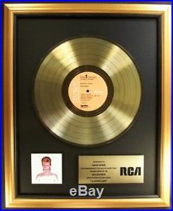 David Bowie Aladdin Sane LP Gold Non RIAA Record Award RCA Records