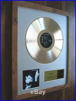 David Bowie Heroes Lp Gold Disc Record Album Award