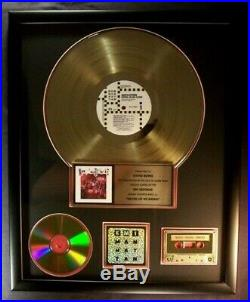 David Bowie Never Let Me Down LP Cassette & CD Gold Non RIAA Record Award