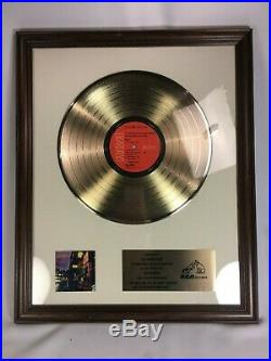 David Bowie Ziggy Stardust Gold Record 500,000 Sales In-House Award RCA Vinyl