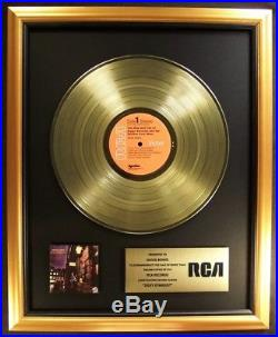 David Bowie Ziggy Stardust LP Gold Non RIAA Record Award RCA Records
