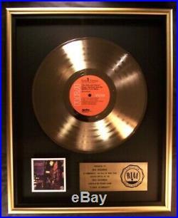 David Bowie Ziggy Stardust LP Gold RIAA Record Award RCA Records