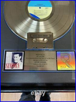 David Sanborn Gold Award! Cass CD Platinum RIAA Record Award RIAA Jay Jacobs