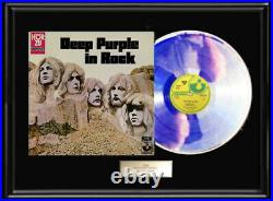 Deep Purple In Rock White Gold Silver Platinum Tone Record Rare Non Riaa Award