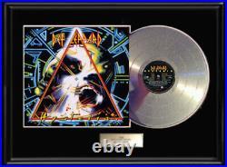 Def Leppard Hysteria Lp White Gold Platinum Tone Record Lp Non Riaa Award Frame