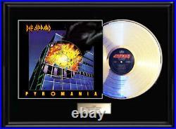 Def Leppard Pyromania White Gold Silver Platinum Tone Record Lp Non Riaa Award