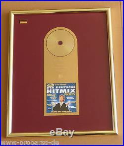 Der Deutsche Hitmix die Party Gold Award an ZDF verliehen goldene Schallplatte