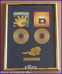 Die Prinzen Doppel Gold Award Alles nur geklaut goldene Schallplatte 1994